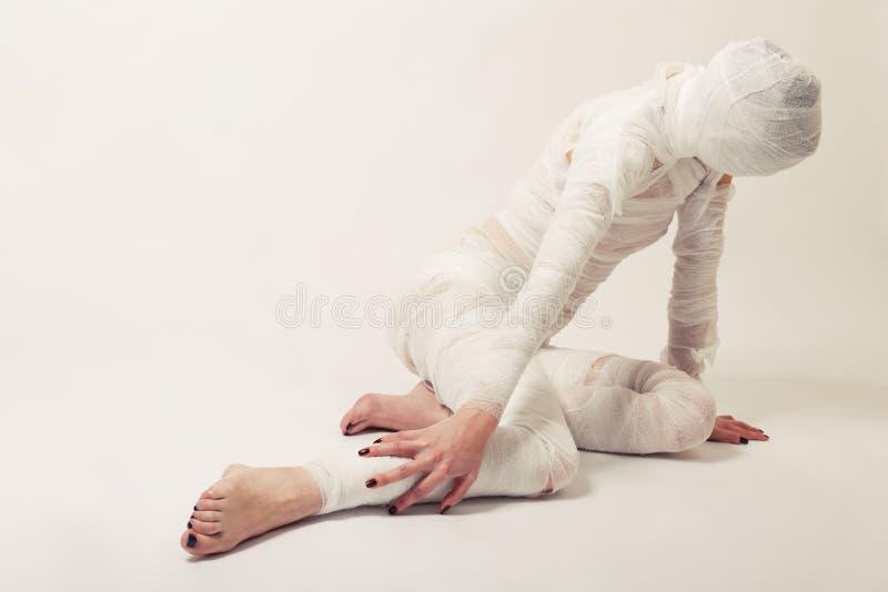 перевязанная мумия стоковая фотография rf