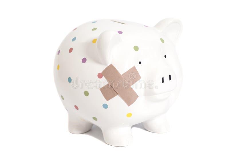 перевязанный банк piggy стоковая фотография rf