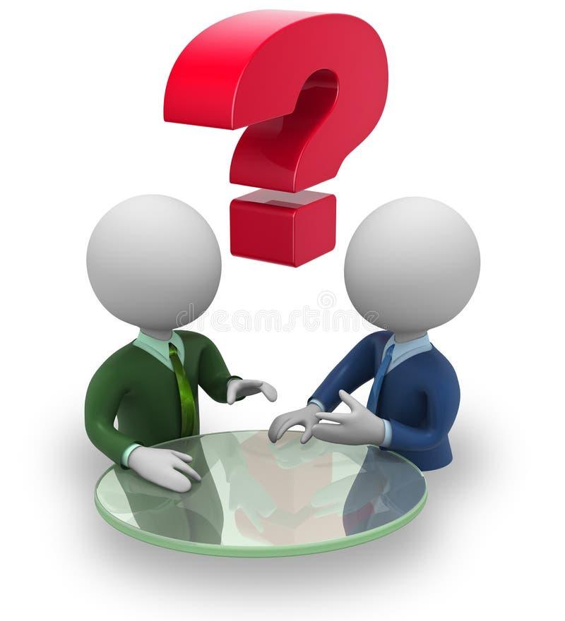 Переговоры бизнесменов иллюстрация штока