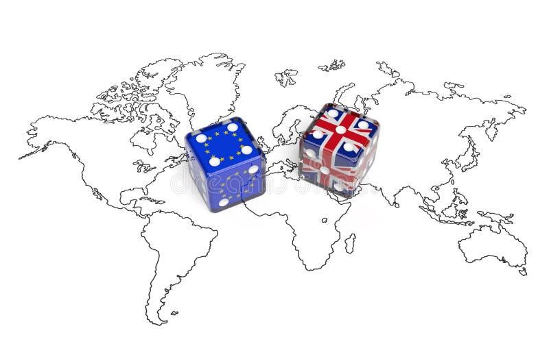 Переговоры между Великобританией и Европейским союзом & x28; политическое concept& x29; иллюстрация штока
