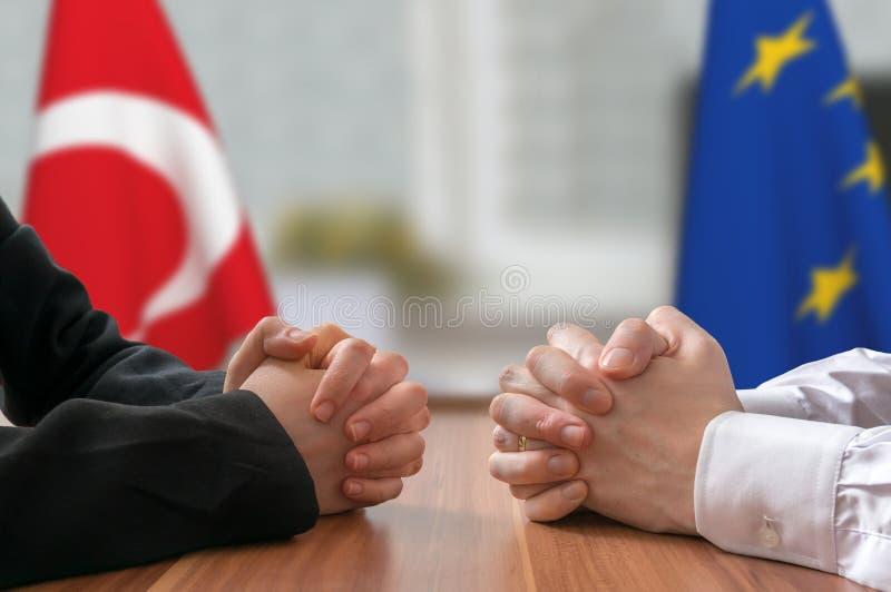 Переговоры Турции и Европейского союза Государственный деятель или политики стоковое изображение