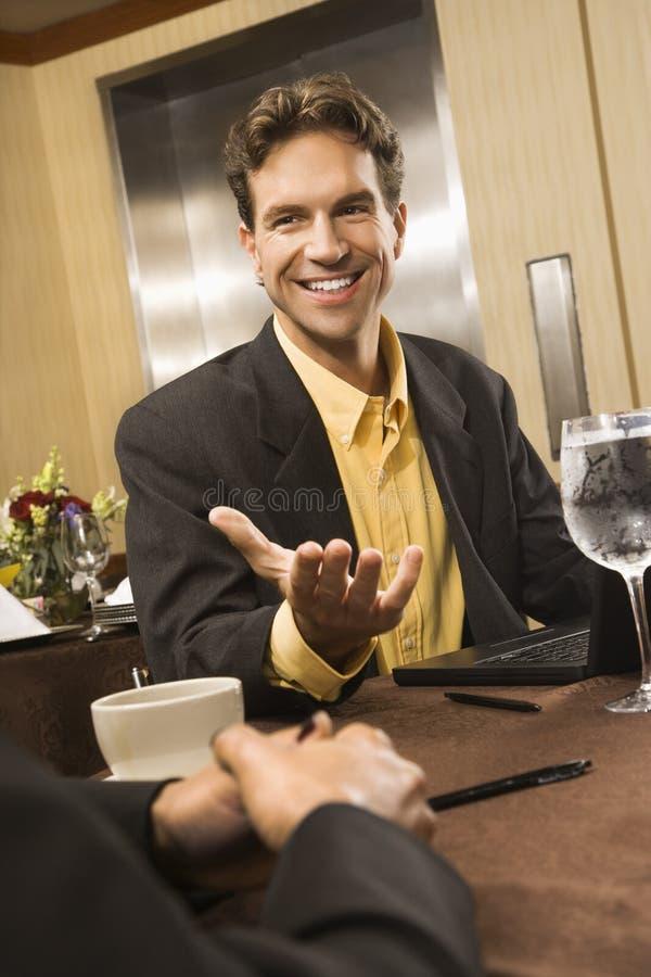 переговор бизнесмена стоковые фото