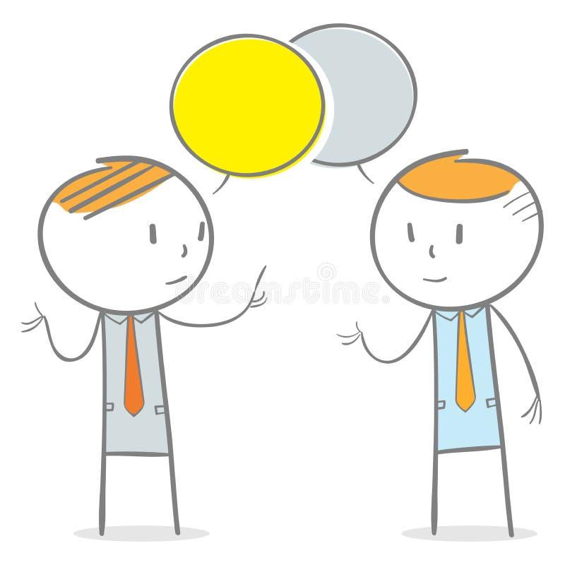 Переговор иллюстрация вектора