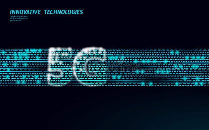 передатчик данным по соединения башни радиосвязи сети интернета быстрого хода потока информации 5G глобальный Мобильное радио бесплатная иллюстрация