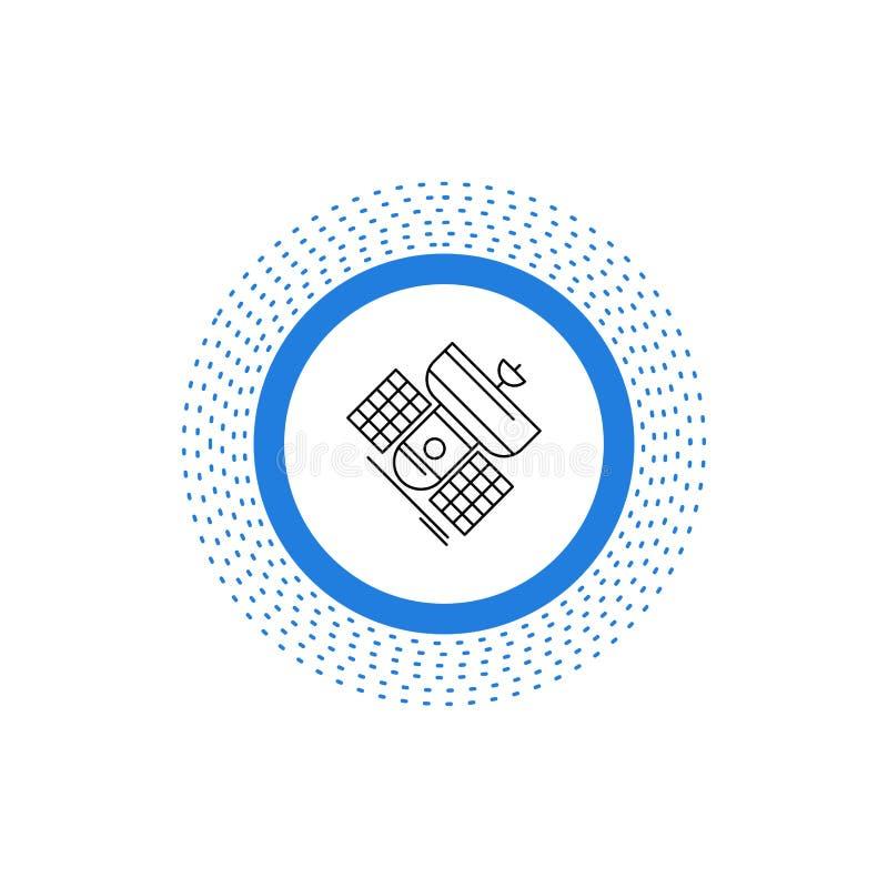 Передача, широковещание, сообщение, спутник, линия радиосвязи значок r иллюстрация вектора