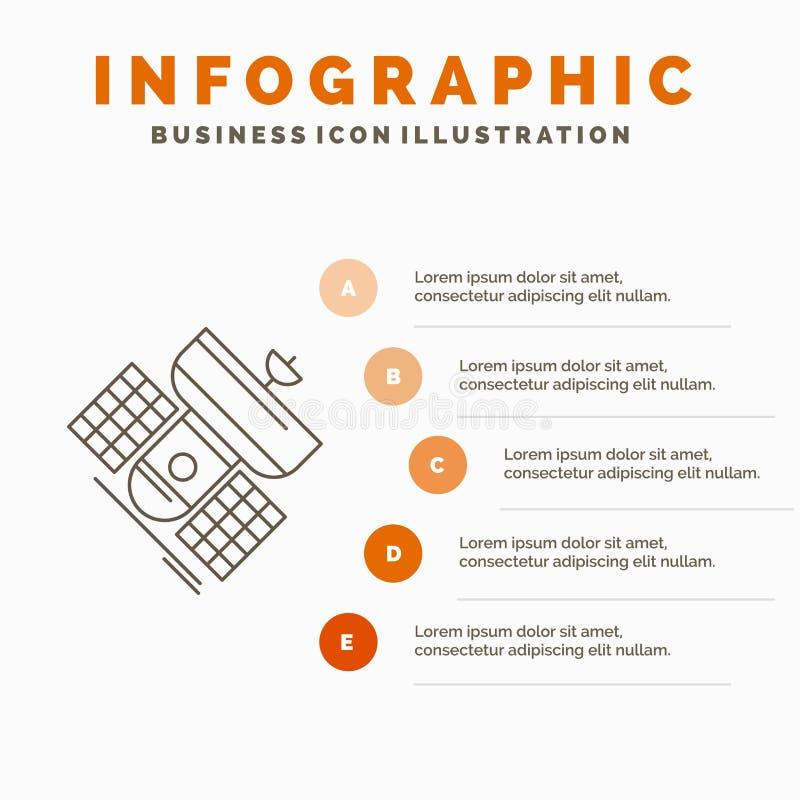 Передача, широковещание, сообщение, спутник, шаблон Infographics радиосвязи для вебсайта и представление Линия серый цвет иллюстрация вектора