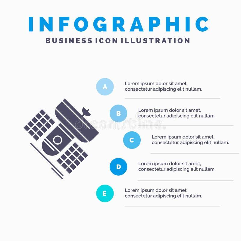Передача, широковещание, сообщение, спутник, шаблон Infographics радиосвязи для вебсайта и представление Глиф иллюстрация вектора