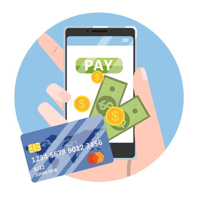 передвижная компенсация Идея цифровой сделки бесплатная иллюстрация