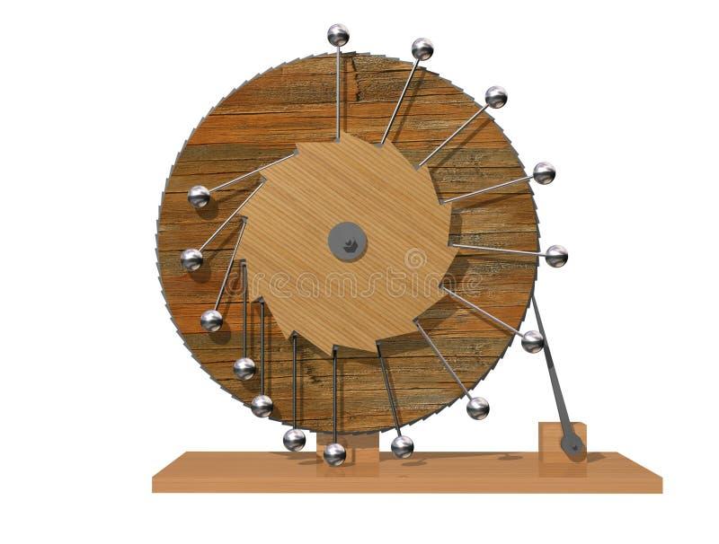 передвижное perpetuum Машина вечного движения ` s Леонардо Да Винчи стоковая фотография