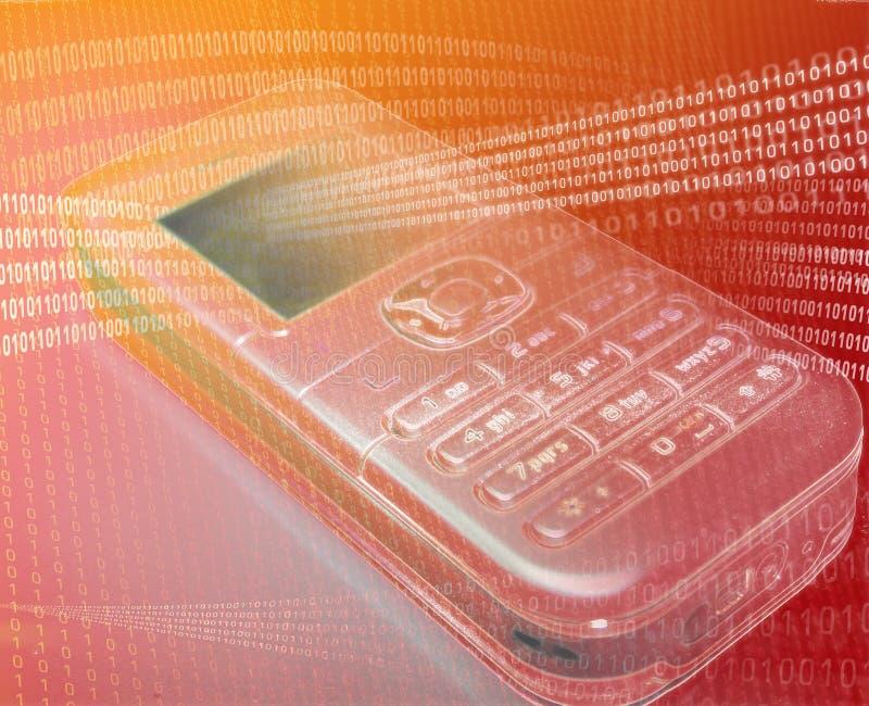 передвижной померанцовый телефон иллюстрация штока