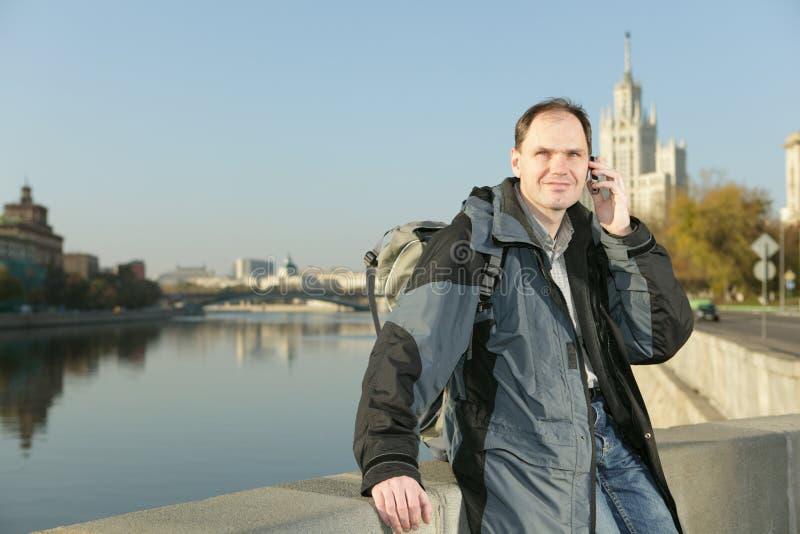 передвижной турист России телефона moscow стоковое фото