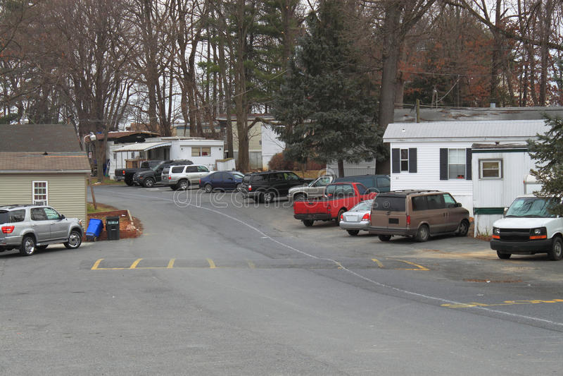 Передвижные дома в парке стоковые фото