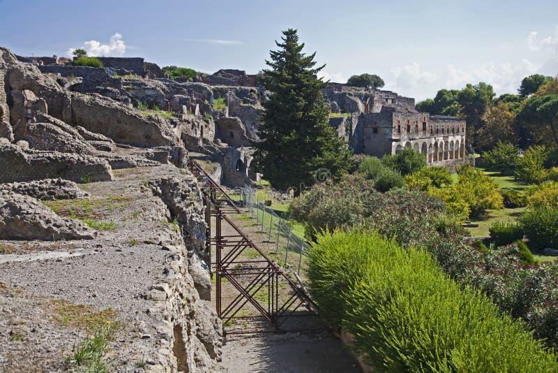 Передние стены на Помпеи стоковое изображение rf