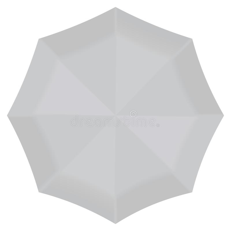 Передний круглый модель-макет зонтика, реалистический стиль бесплатная иллюстрация