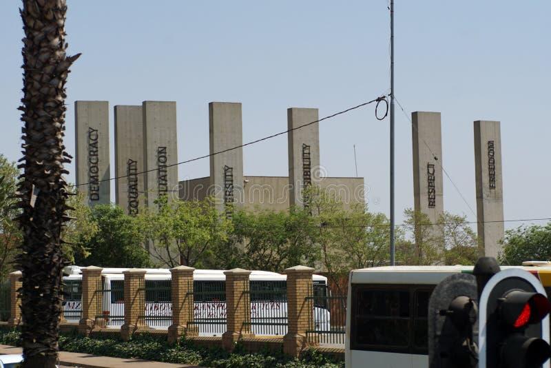 Передний фасад музея арартеида в Йоханнесбурге стоковое изображение