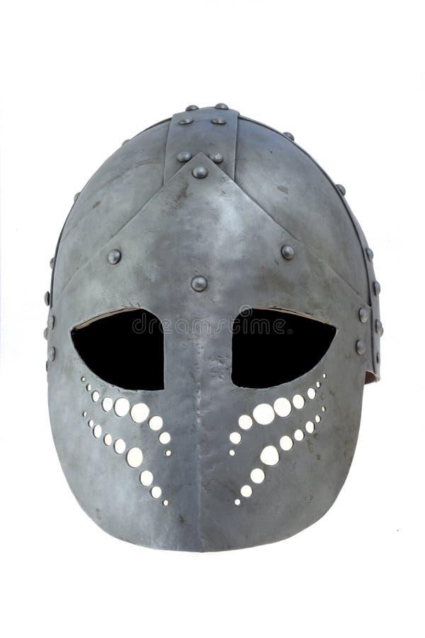 передним взгляд изолированный шлемом стоковые изображения