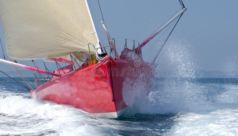 передняя яхта regatta стоковые фото