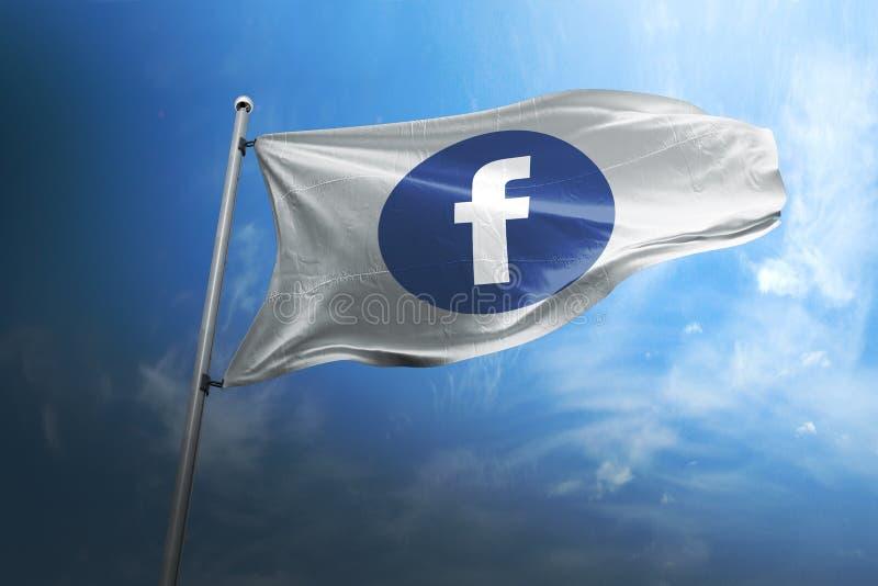 Передовица флага Facebook photorealistic стоковое изображение