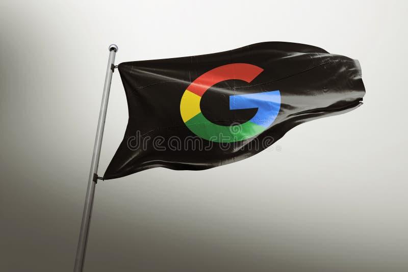 Передовица флага Google photorealistic иллюстрация вектора