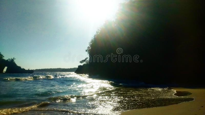 Перед заходом солнца в Nusa Penida стоковая фотография
