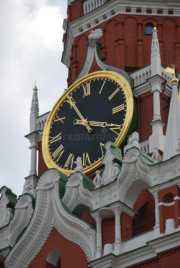 Перезвоны башни Spassky Москвы Кремля стоковое изображение rf