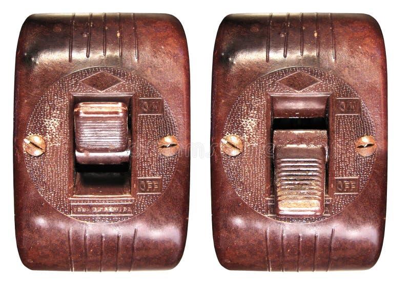 переключатель бакелита старый стоковая фотография