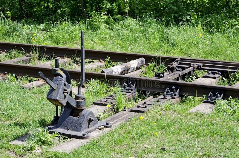 Переключатель железной дороги стоковое фото rf