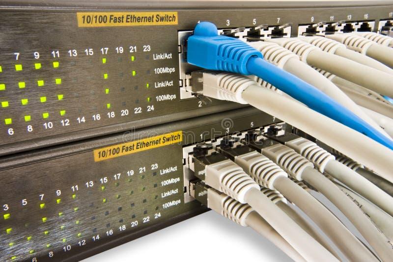 переключатель кабельной сети стоковое изображение rf