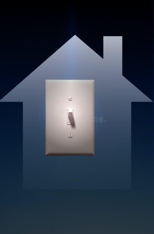 переключатель мощности освещения электрического света предпосылки голубой к y иллюстрация вектора