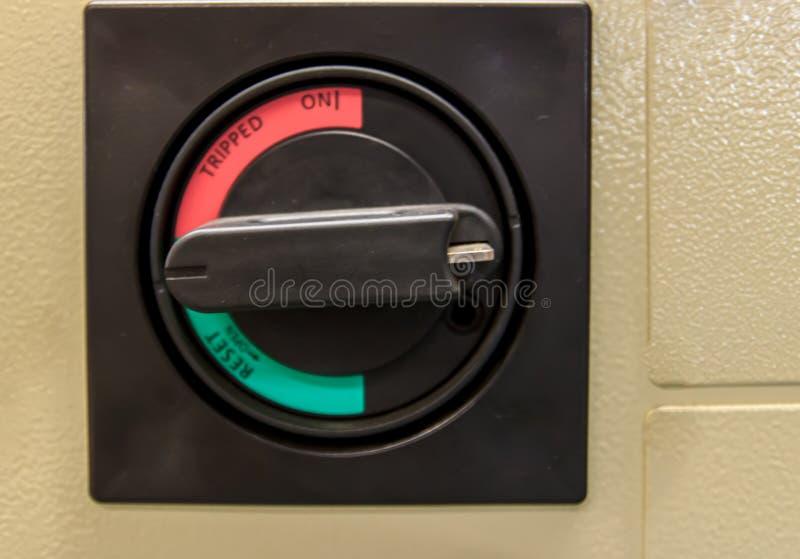 Переключите управление выключателя электрическое Справочная информация стоковое изображение rf
