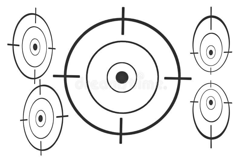 Download Перекрестие на бумаге стоковое изображение. изображение насчитывающей bullseye - 69665499