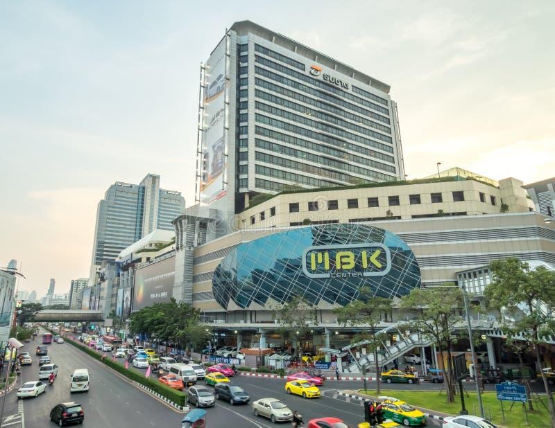 Перекрестки движения в Бангкоке стоковое изображение rf