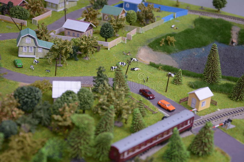 Перекрестки на деревне стоковые изображения rf