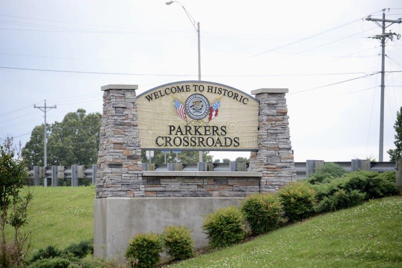 Перекрестки Parker, Теннесси стоковая фотография