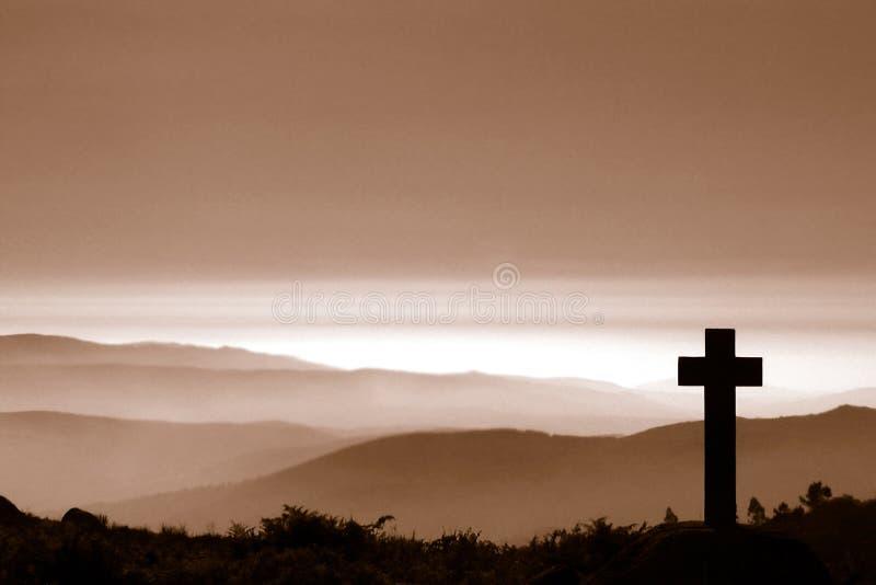 перекрестная гора стоковая фотография