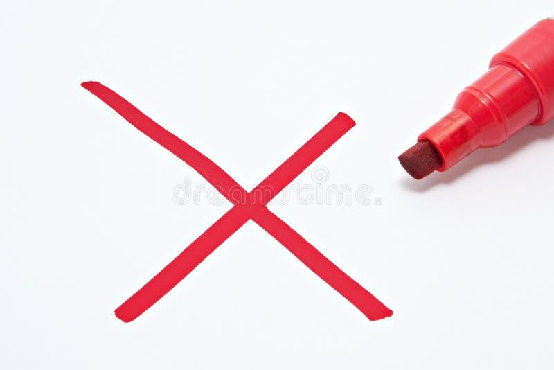 перекрестная красная неправда стоковое фото rf
