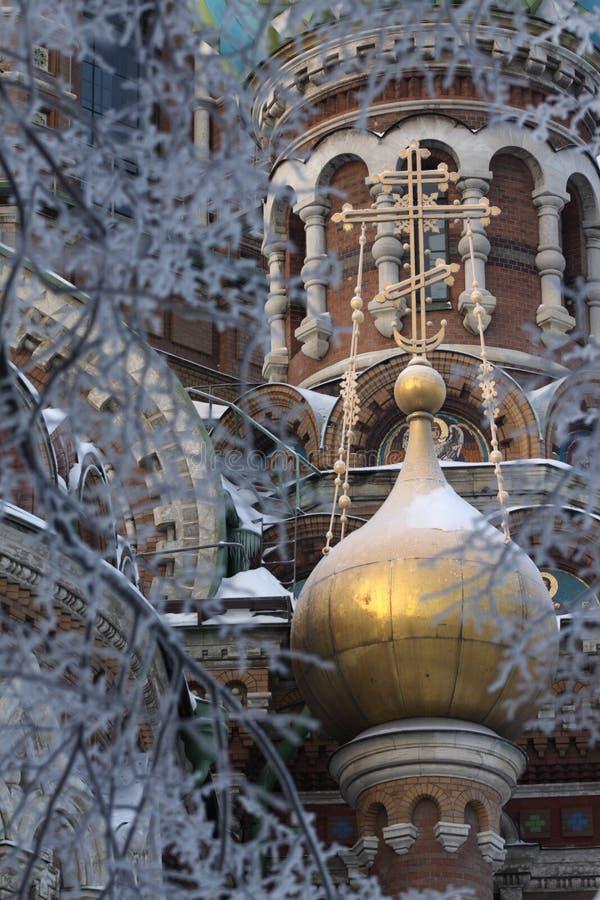 перекрестное золото купола стоковые изображения