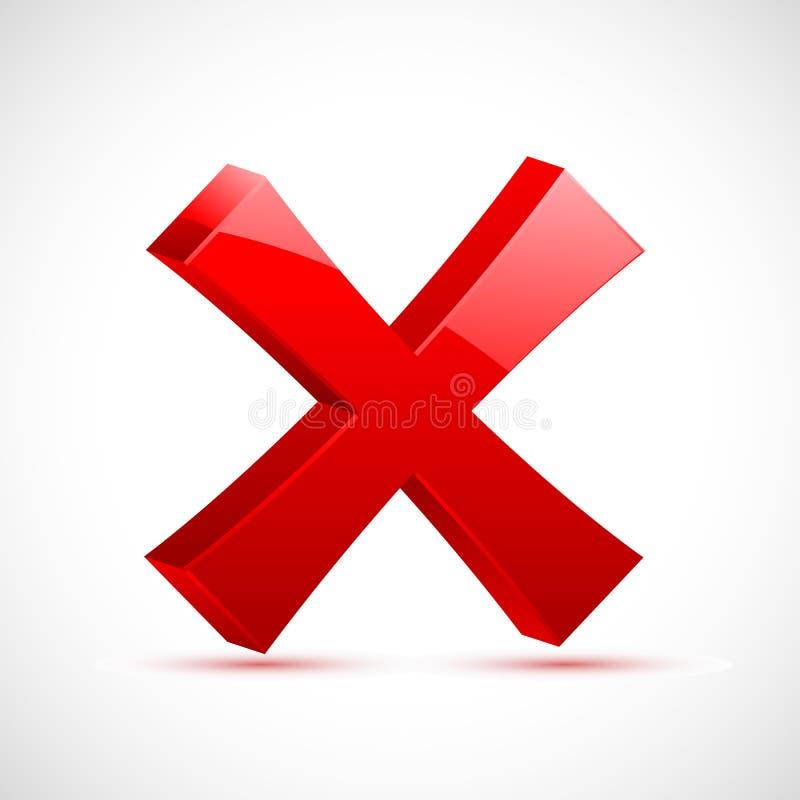 перекрестный красный цвет метки иллюстрация вектора
