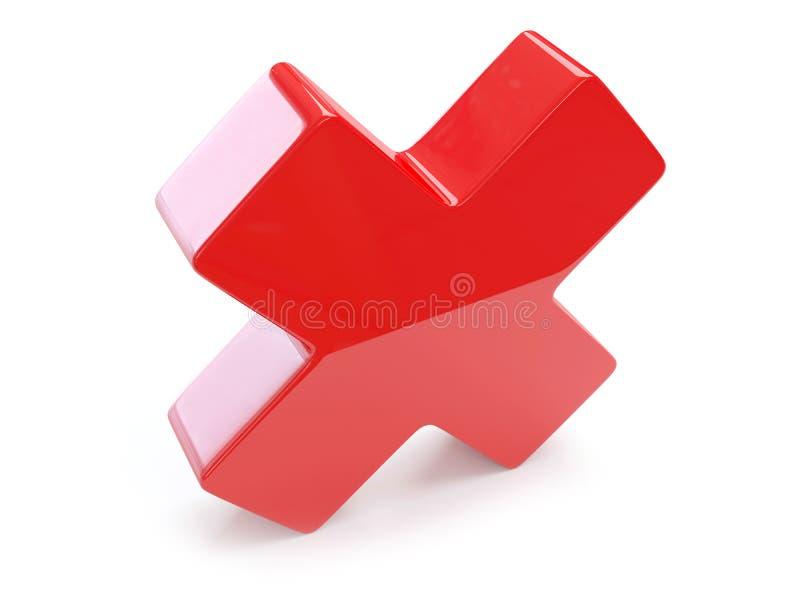 перекрестный красный цвет иллюстрация штока