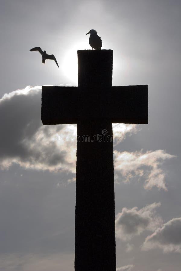 перекрестный мемориальный камень стоковое фото rf