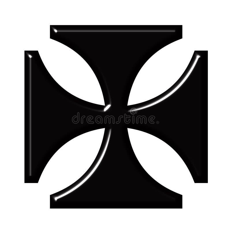 перекрестный немец 3d иллюстрация вектора