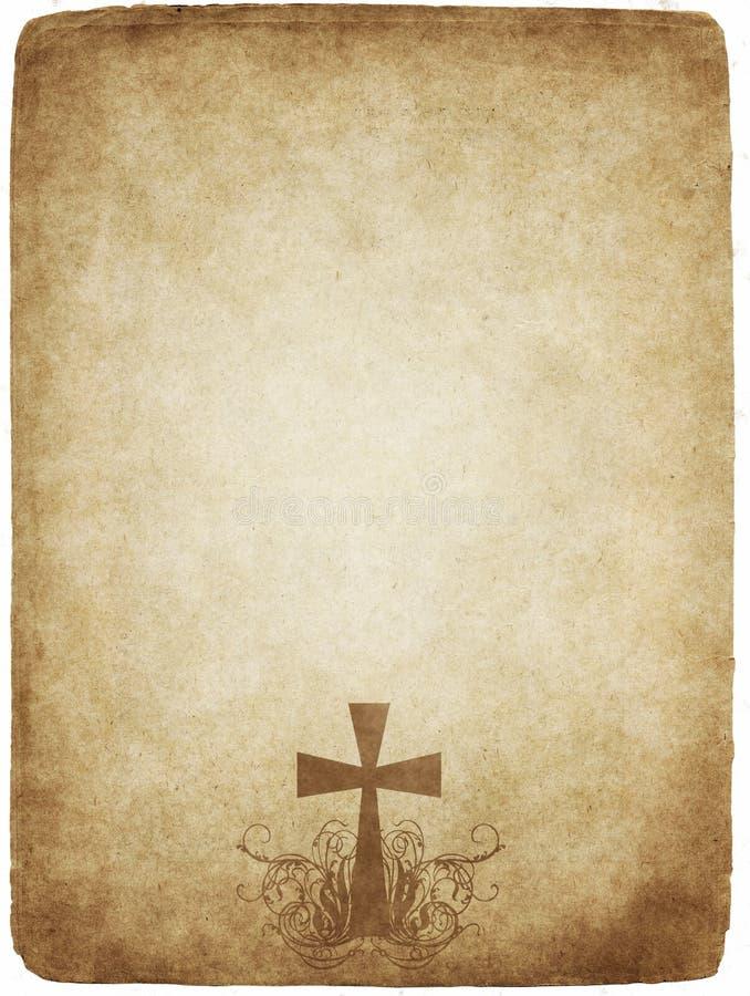 перекрестный старый пергамент иллюстрация вектора