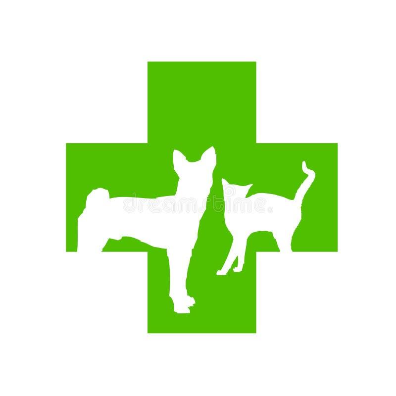 перекрестный veterinary логоса иллюстрация штока
