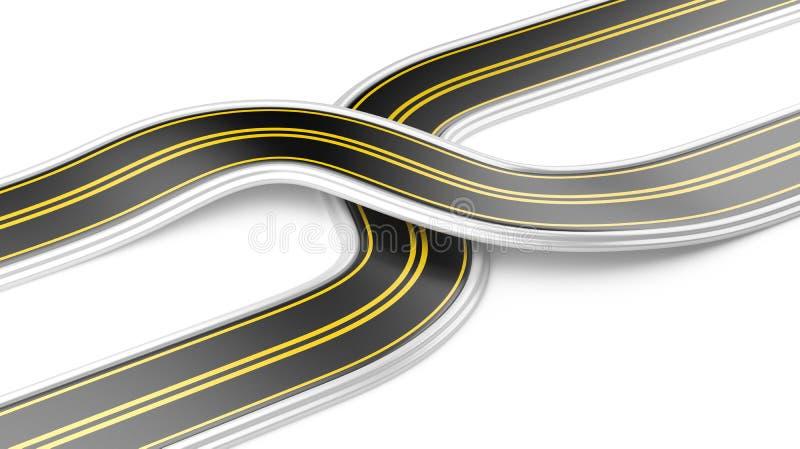 Download 2 перекрестных дороги - стратегия бизнеса Иллюстрация штока - иллюстрации насчитывающей дорога, идея: 40578060