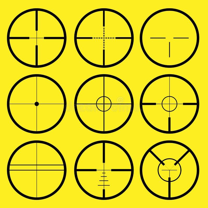 перекрещение crosshair иллюстрация вектора
