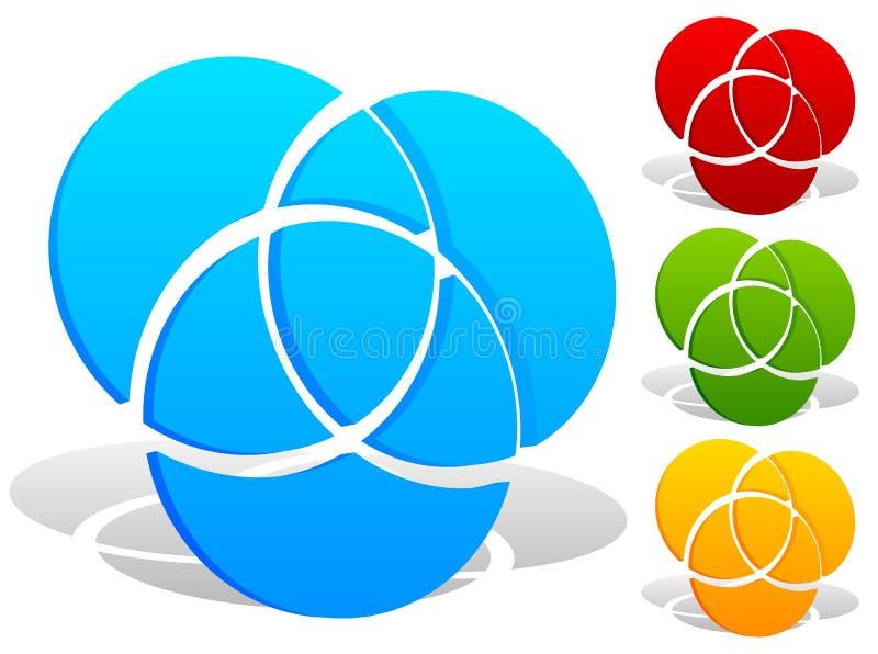 Download Перекрывать объезжает значок - контур 3 перекрывая, Intersectin Иллюстрация вектора - иллюстрации насчитывающей конспектов, segmented: 81814478