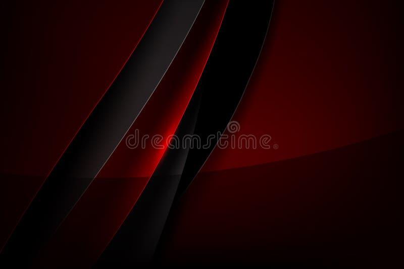 Перекрытие абстрактной предпосылки красное и темное с illu вектора тени иллюстрация вектора