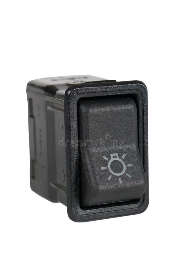 Переключатель управления светом автомобиля стоковые фотографии rf