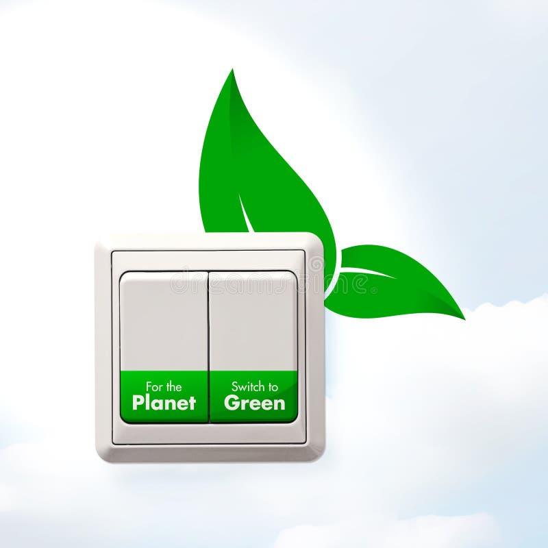 Переключать к зеленому цвету бесплатная иллюстрация