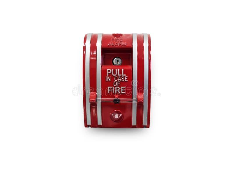 Переключите пожарную сигнализацию в зданиях стоковое изображение